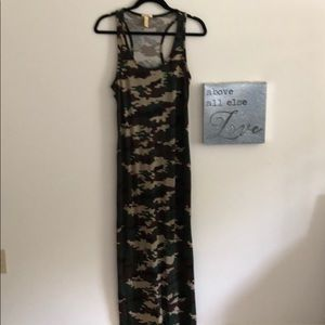 NYC Large Camo Bodycon Maxi Dress